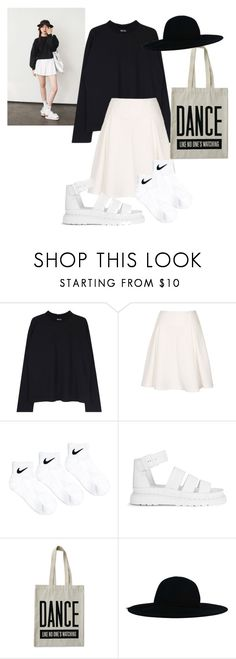 """Untitled #125"" by alejomarianne ❤ liked on Polyvore featuring NIKE, Dr. Martens and ALPHABET BAGS"