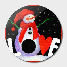 Discover «Christmas Snowman», Exclusive Edition Disk Print by Rafael Salazar - From $59 - Curioos
