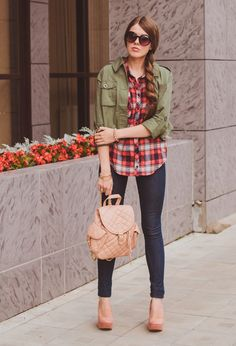 Fashionable Ways To Wear Your Red Plaid Shirt This Spring