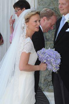 HRH Princess Carolina de Borbon Parma and HRH Prince Carlos de Borbon Parma arrive for the church wedding of Princess Carolina