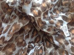 Stunning Pure Silk Leopard Print Scarf - Vintage 1980s - Unused from vintage stock - Long and Square available by JohnTjadenScarves on Etsy