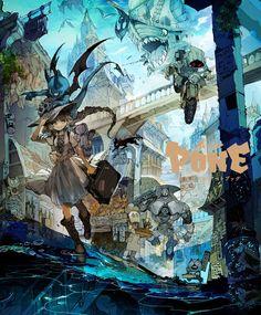 The Gorgeous Gothic Art of Demizu Posuka ~ The Day The Web Stood ...