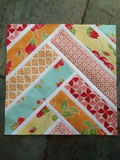 Broken Herringbone Quilt Block