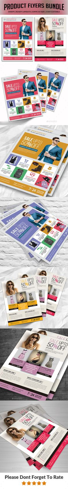 Product Flyers Bundle Templates by afjamaal Product Flyers Bundle Templates.This Flyers is made in photoshop the files included are help file and photoshop psd's. All psd's a