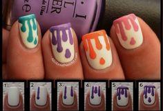 #Orange #MintGreen #Purple #Pink #PaintSplatter