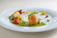 Hervé Pronzato, Roasted Langoustine with Basil Sauce. (Sani-Gourmet-Food-Design)
