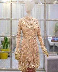 49 Ideas embroidery designs fashion modern for 2019 Kebaya Lace, Kebaya Hijab, Batik Kebaya, Kebaya Dress, Kebaya Brokat, Embroidery Fashion, Embroidery Dress, Wedding Embroidery, Dress Brokat Muslim