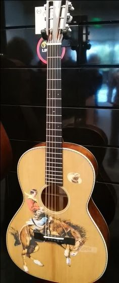 The Martin Guitar LE-COWBOY-2016 from their booth at 2016 Summer NAMM in Nashville, TN.