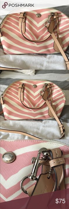 Coach Zebra Print  Purse Handles and removable shoulder strap. Perfect condition Coach Bags Shoulder Bags