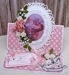 Betsy here this morning to share some of the cards, made with Kaisercraft's new baby collection, for July - it is so gorgeous. Baby Cards, Kids Cards, Easel Cards, Die Cut Cards, Mothers Day Cards, Pretty Cards, New Baby Products, Birthday Cards, Projects To Try