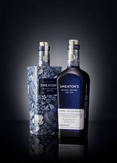 Smeaton's Bristol Method Dry Gin Packaging by Denomination – Grits + Grids Beverage Packaging, Bottle Packaging, Liquor Bottles, Vodka Bottle, Label Design, Web Design, Package Design, Root Beer, Drink