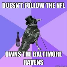 Doesn't Follow the NFL Owns the Baltimore Ravens