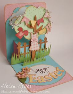 Cricut Easter Pop-Up Card.  Country Life Cartridge.  *