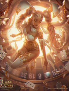 "Gambling Goddess Victorianne (ADV) for ""Legend Of The Crytptids"" (LOC) ©Mynet. by Viktoria Gavrilenko (Viccolatte) Freelancing Concept Artist and Illustrator Anime Art, Fantasy Art Women, Fantasy Characters, Fantasy, Anime Fantasy, Fantasy Artwork, Fantasy Art, Female Art, Art"