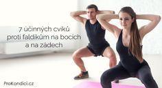 7 účinných cviků proti faldíkům na bocích a na zádech | ProKondici.cz Body Fitness, Fitness Tips, Health Fitness, Fitness Routines, Yoga Anatomy, Take Care Of Your Body, Fit Motivation, Butt Workout, Weight Training