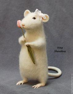 tuto - faire des pattes de souris en laine feutrée