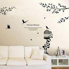 árbol de papel pintado de la pared