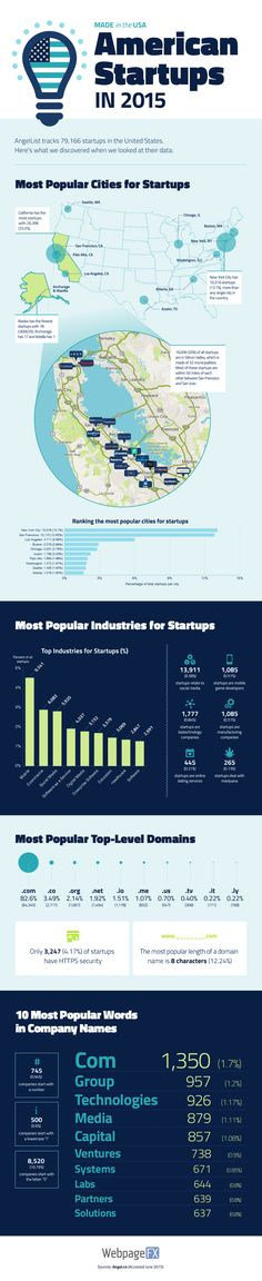 American Startups in 2015 #infographic #Startup #Business