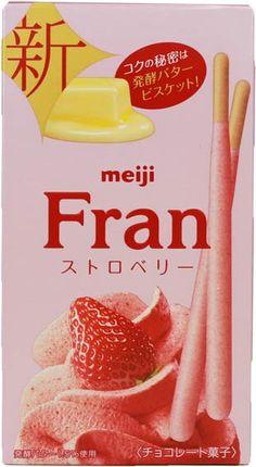 Meiji Fran Strawberry $2.20 http://thingsfromjapan.net/meiji-fran-strawberry/ #Japanese snack #delicious Japanese snack #meiji