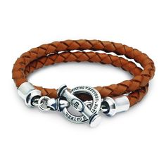 """"""" NOTHING VENTURED, NOTHING GAINED """" RE-15 / Sterling Silver / Leather / Bracelet / Dr MONROE / Made in Japan"""
