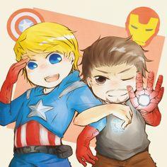 Steve & Tony, they look like children