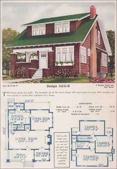 1952 national plan service benning the basic ranch house for 1925 bungalow floor plan