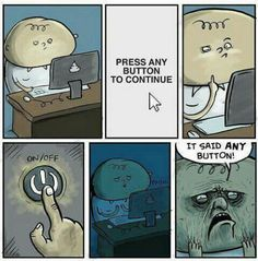 It said ANY button