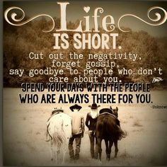 Positive thoughts: We need to be with supportive friends. They help and encourage you in a positive way. Negativity is bad for your mental emotional and physical health. So I challenge you to do something healthy and be with positive people. Rodeo Quotes, Cowboy Quotes, Cowgirl Quote, Equestrian Quotes, Western Quotes, Equestrian Problems, Cute Quotes, Great Quotes, Song Quotes