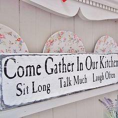 Vintage Wooden Kitchen Sign