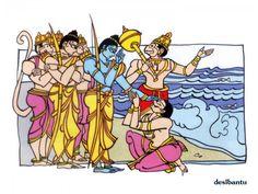 People always ask, Who are the seven immortals (Chiranjivi) of Hindu Mythology? So here is the part 3 of the Seven immortals in Hindu Mythology explained. Madhubani Art, Madhubani Painting, Kalamkari Painting, Lord Shiva Painting, Krishna Painting, Indian Folk Art, Indian Artist, Rajasthani Art, Indian Illustration