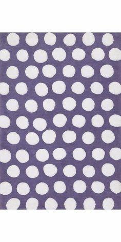 LOLA SHAG-02 PLUM / WHITE