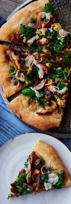 White Pizza with Broccoli Rabe