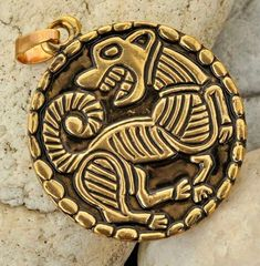 VIKING DOG PENDANT Norse Talisman Necklace by WulflundJewelry