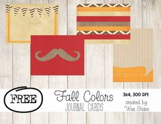 Fall Colors Journal Cards {Free Download}