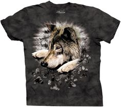 The Mountain Men's Wolf In Dye Paw Short Sleeve Tee,Jet Black,Medium by The MountainTake for me to see The Mountain Men's