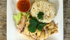 Asian Spicy Curry - Hainanese Chicken Over Rice