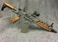 Tactical AR-15 5.56/.223 Rifle With Wood Furniture