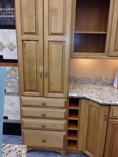7' Multi Storage Kitchen Pantry | Unfinished Oak | 7' x 36 ...