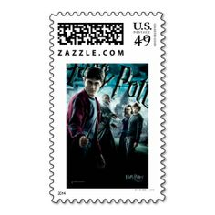 Harry Potter With Dumbledore Ron and Hermione 1 Postage Stamps. Wanna make each letter a special delivery? Try to customize this great stamp template and put a personal touch on the envelope. Just click the image to get started!