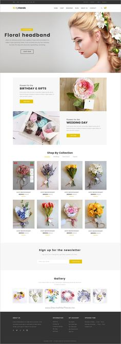 ByHands is a minimal design #PSD template for #flower #store eCommerce website download now➩ https://themeforest.net/item/byhands-flower-store-psd-template/19102659?ref=Datasata