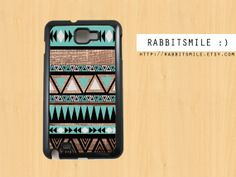 Mint Aztec wood Htc one X case