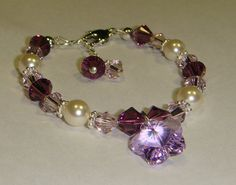 Flower Girl Bracelet  Swarovski Crystal by CrystalConnections4U, $25.00
