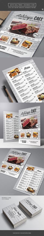 White Wall Menu — Photoshop PSD #flyer #burger • Download ➝ https://graphicriver.net/item/white-wall-menu/19108673?ref=pxcr