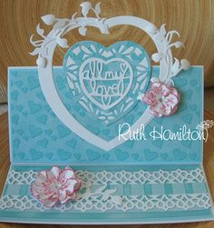 Blog tonic: Heart easel card