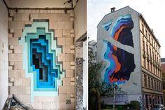 Alman sokak sanatçısı 1010, sprey boyayla oluşturduğu muhteşem murallarıyla Almanya, Panama ve Amerika'daki şanslı duvarları süslüyor.