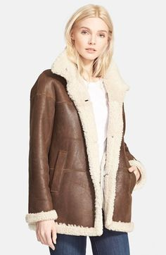 Theory+'Teriah'+Genuine+Shearling+Jacket+available+at+#Nordstrom