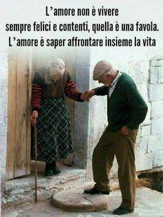 L'amore è saper affrontare insieme la vita .....