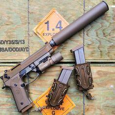 693 отметок «Нравится», 9 комментариев — Yankee Hill Machine (@yankee_hill_machine) в Instagram: «The YHM Cobra pistol cal suppressor on an m9a3 someone please hide the FDE from @johnny_2a_hoel -…»