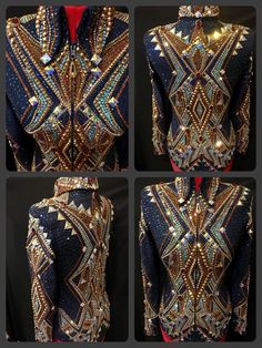 Western Show Shirts, Western Show Clothes, Horse Show Clothes, Western Outfits, Western Wear, Showmanship Jacket, Show Jackets, Riding Jacket, Painted Clothes