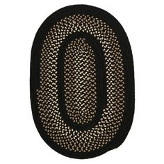 Darby Home Co Omaha Onyx Indoor/Outdoor Area Rug Rug Size: Round 8'